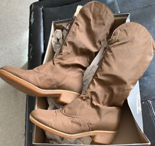 Vintage Med. Brown Warm Revelations Snow Tall Boots Zipper Fairbanks- Md Brown