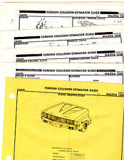 1971 1972 MAZDA 1200 BODY PARTS LIST CRASH SHEETS MF RE
