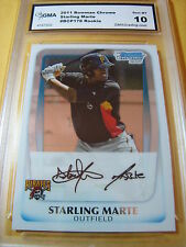 STARLING MARTE PIRATES 2011 BOWMAN CHROME ROOKIE RC # BCP178 GRADED 10