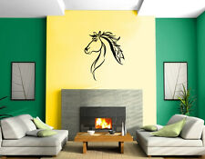 Mustang Horse Head Pony Stallion Silhouette Wall Mural Vinyl Art Sticker M537