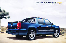 2010 Chevrolet Chevy Avalanche Truck Original Sales Brochure