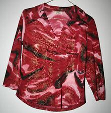 VTG 1960s Women's Psychedelic HIPPIE Polyester Shirt MODGroovy RETRO Mint