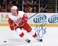 JUSTIN ABDELKADER SIGNED AUTOGRAPHED 8x10 PHOTO DETROIT RED WINGS PSA/DNA