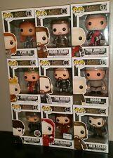 FUNKO POP Lot of 9 Game of Thrones Robb Stark Ygritte Hodor Joffrey Hound Tywin