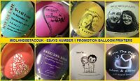 "30 Custom Printed Personalised 12"" Balloons. Wedding Save the Date Anniversary"