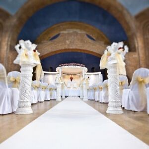 White Wedding Aisle Runner Carpet Cheap Luxury Premium Quality £5/m +delivery