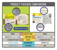 파나쿠어 Panacur Dewormer 222mg treatment 1g x 25 packets ( C = canine )