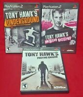 Tony Hawk's 3 Game Lot Sony PlayStation 2 PS2 Wasteland, Proving, Underground 1