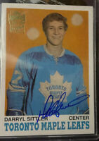 2001-02 Topps Archives AUTOGRAPHS #39 DARRYL SITTLER - Toronto Maple Leafs