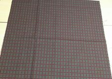 New 100% Cotton Fabric Green/Red Christmas Tartan Design 17 1/2 x 17 1/2  Inches