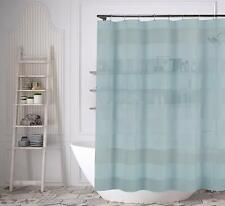 """Aqua Blue Fabric Shower Curtain: Wide Stripe Design, 70"""" x 72"""""""