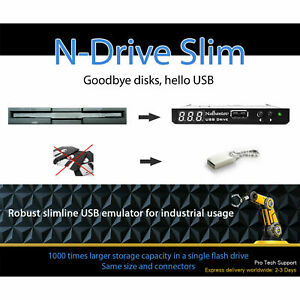 Floppy Disk USB Emulator N-Drive Industrial Slim - Remplacement pour TEAC...
