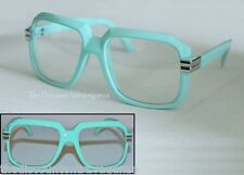 Gazelle Clear Lens Glasses _Turquoise Blue Sunglasses Frame_Metal Accent