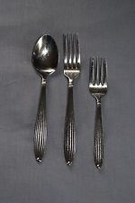 Reed and Barton Jubilee salad and dinner forks, soup spoon