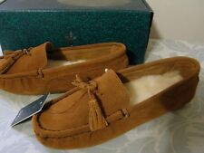 EMU KURABY BROWN Sheepskin Fur Moccasins Size 8 M