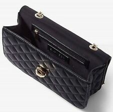 NEW ~ EXPRESS DIAMOND QUILTED CHAIN STRAP SHOULDER BAG PURSE  BLACK
