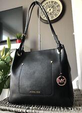 Beautiful Michael Kors black Saffiano Leather tote bag Over Shoulder Bag Handbag