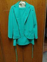BLEYLE For Hooper size 42 green Skirt Suit 100% polyester