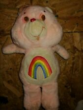 Vintage Rare Care Bears Plush Kenner 18 Inch Cheer Bear.needs little cleaning