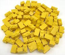 Lego 100 New Yellow Bricks 1 x 2 Dot Building Blocks Pieces