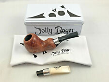 Jolly Roger Pfeife Rackham hellbraun pipe pipa - 9mm Filter by Wallenstein