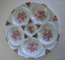Oyster Plate - Limoges - Pink Roses
