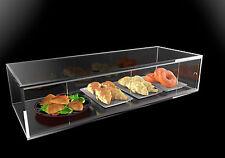 Vetrina in plexiglass porta brioche, cornetti, pane, dolci e alimenti - L 90 cm
