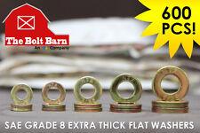 Grade 8 Sae Extra Thick Flat Washer Kit 14 516 38 716 12 600pcs