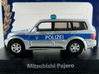 "BoS 87496 Mitsubishi Pajero (2000) ""POLIZEI"" in silbermet./blau 1:87/H0 NEU/OVP"