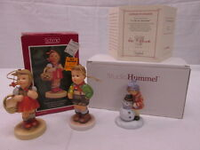 StudioHummel A Gift for Snowman Hummel Schmid Ornaments 1983-84 Reproductions