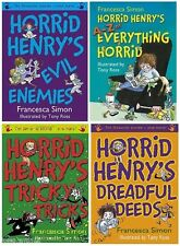 NEW X 4 HORRID HENRY A5 story collections A-Z  DEEDS ENEMIES TREATS  30 stories+