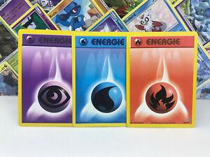 3x Energie Karten - Pokémon Karten Neo Genesis in Deutsch - Played - Low Played