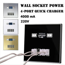 Brand New Adapter Switch 220V 4 USB Port Socket Power Outlet Wall Charger