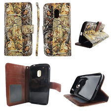 Flip Wallet Case Tree Camouflage  Motorola Moto G4 Play Cash id Slot Stand Cover