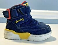 Patrick Ewing 🏀 33 Hi  Navy Blue/yellow/Red Size 6 toddler suede DEADSTOCK