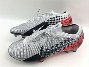 Nike Vapor 13 Elite Neymar JR FG Chrome Black Red Cleats AT7898–006 Men Size 8.5