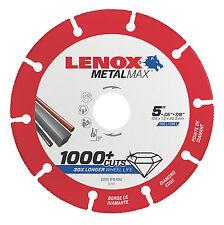 "Lenox 5"" x 7/8"" Hole Metal Max Diamond Edge Cut Off Wheel,1,000+cuts #1972922"