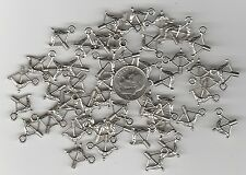 YOU GET 50 SILVER TONE WESTERN BOW AND ARROW  METAL CHARMS - U.S. SELLER. - C 39