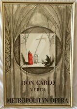 Metropolitan Opera Don Carlo Poster Published By Mourlot Signed Gerard