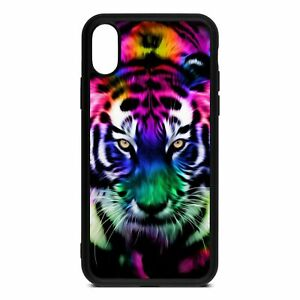 Colourful Tiger iPhone 5/6/7/8/X/XR/11 Samsung S5/6/7/8/9/10/20 Case