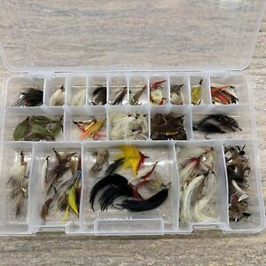 VINTAGE FRESHWATER FISHING DRY & WET FLIES AND STREAMERS - LARGE LOT
