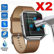 2Pc Genuine Premium Tempered Glass Screen Protector For Fitbit Blaze Smart Watch