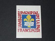 N°13 JAMBOREE MONDIAL PAIX FRANCE 1947 ALBUM CAP AVENTURE 1985 LIVRE DU SCOUT