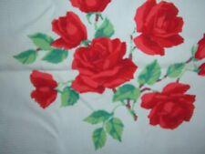 VINTAGE WILENDUR TOWEL RED ROSE