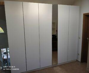 IKEA PAX weiss mit Spiegel, Kleiderschrank