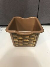 Step 2 Lifestyle Dream Kitchen Replacement Brown Plastic Wicker Basket Bin