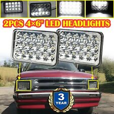 "Pair 45W 4X6"" Rectangle CREE LED Headlight High Low Beam Sealed Replacement Lamp"