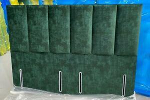 HYPNOS CAROLINE EURO SLIM ODD HALF 180cm s king headboard EMERALD GREEN RRP£1500