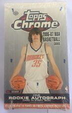 2006-07 Topps Chrome Basketball Factory Sealed Hobby Box