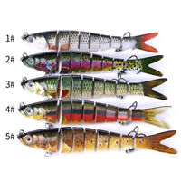 8 Multi Jointed Lifelike Fishing Lure Swimbait Pike Bass Trout Salmon Carp Bait